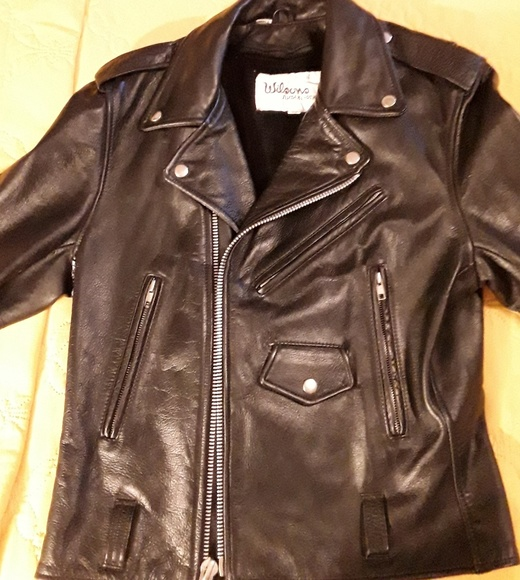 703025bb4 Wilsons Leather Womens Motorcycle Jacket-size 38